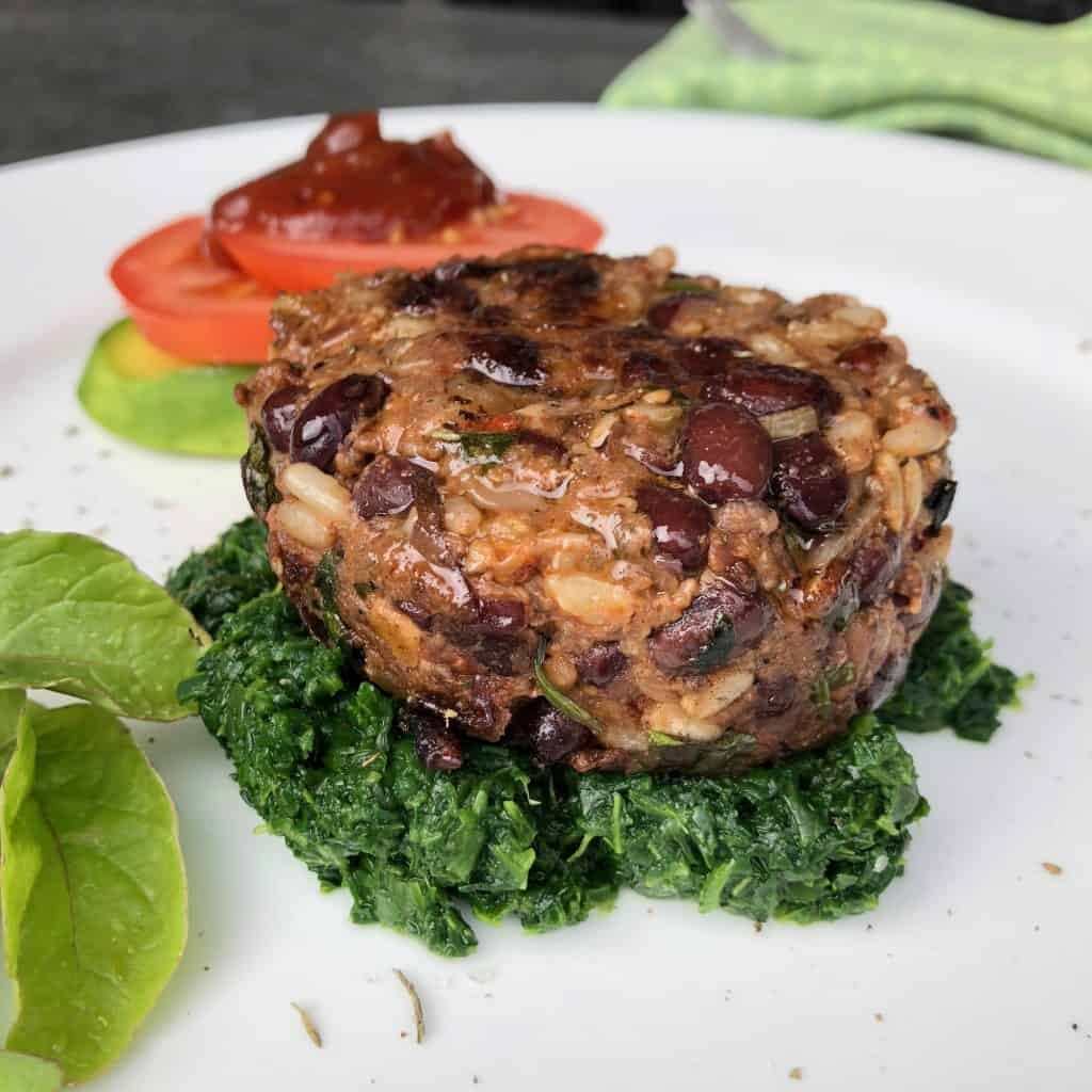 Smokey Vegan Black Bean Burger