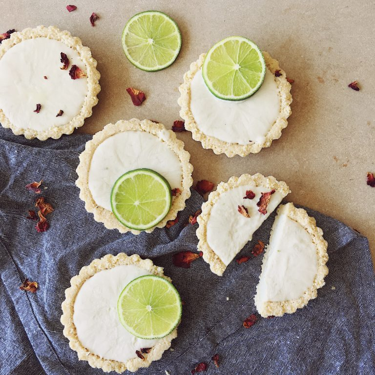 RAW MINI LIME TARTS