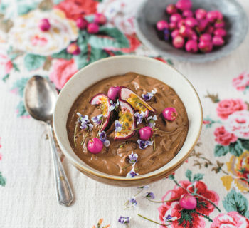 Chocolate and Raspberry Smoothie Bowl