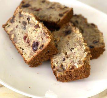 Cooking with Kino: Vegan Walnut Banana Fruit Bread