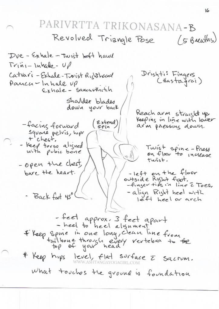 Yoga Pose Tutorial: Parivrtta Trikonasana or Revolved Triangle