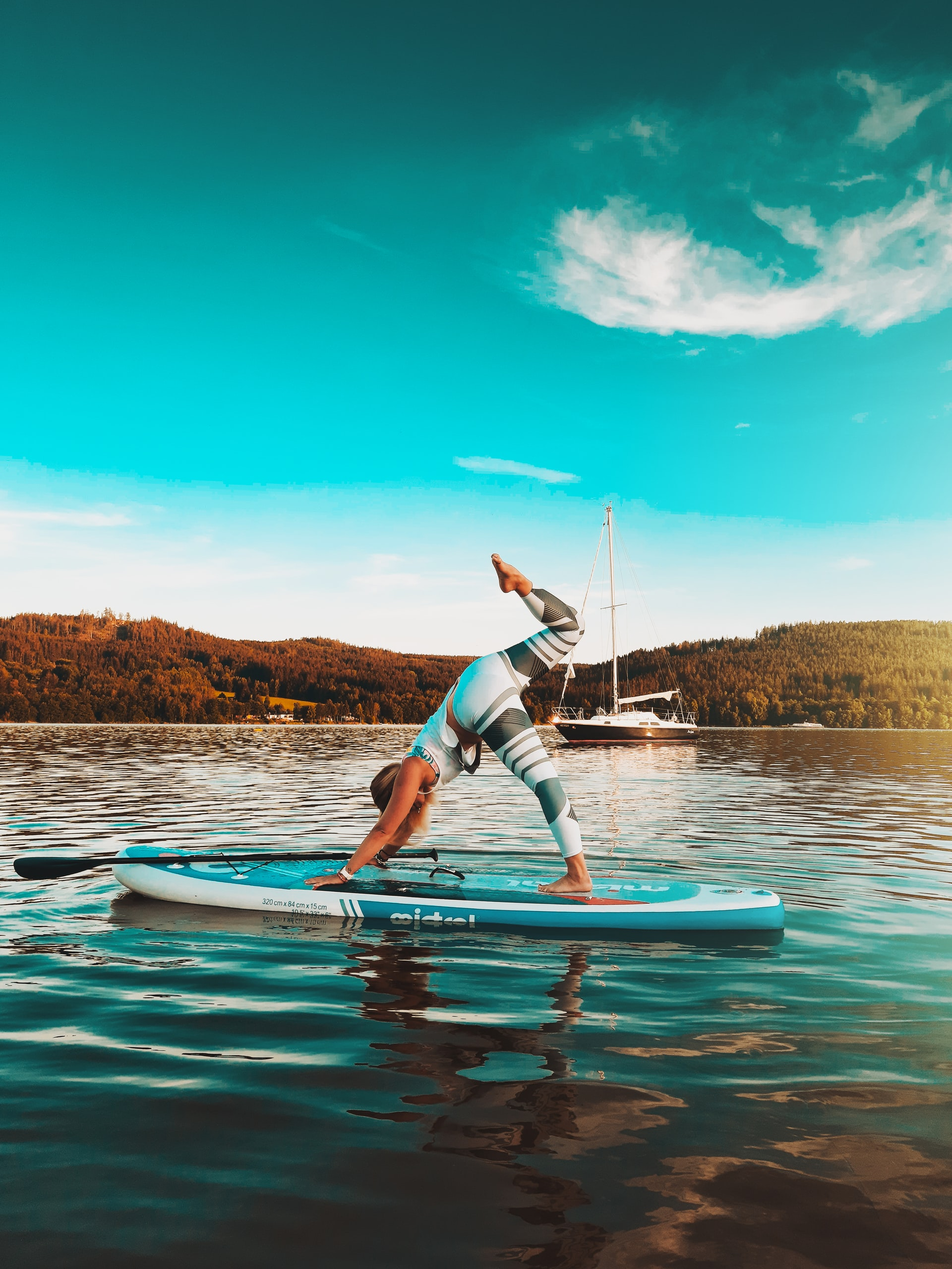 SUP Yoga: Connecting with Self on A Paddle Board